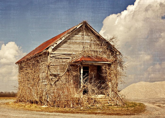 Rustic Greeting Card featuring the photograph Country Schoolhouse by Marty Koch
