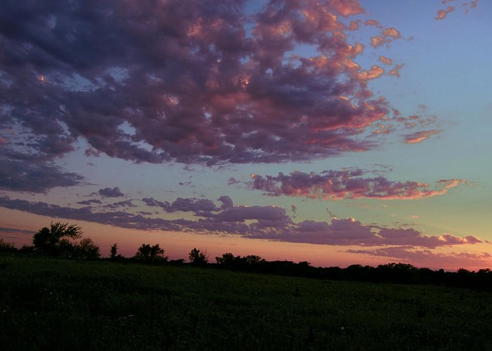 Landscape Greeting Card featuring the photograph Country Sky by Jame Hayes