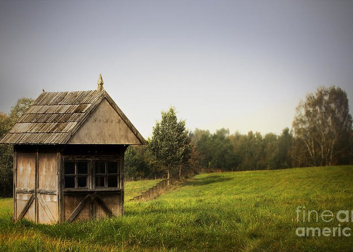 Countryside Landscape Greeting Card featuring the photograph Countryside Landscape by Jolanta Meskauskiene
