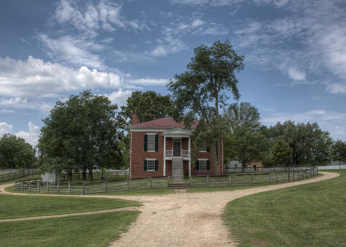 Appomattox Greeting Card featuring the photograph Courthouse At Appomattox Court House by Stephen Gray