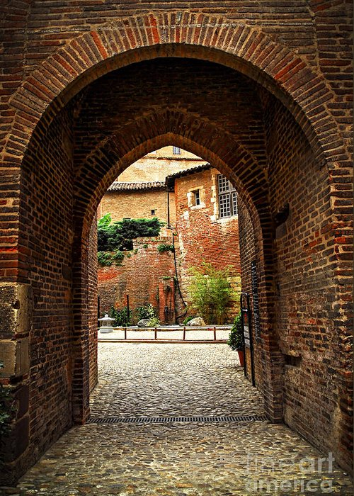 Albi Greeting Card featuring the photograph Courtyard Of Cathedral Of Ste-cecile In Albi France by Elena Elisseeva