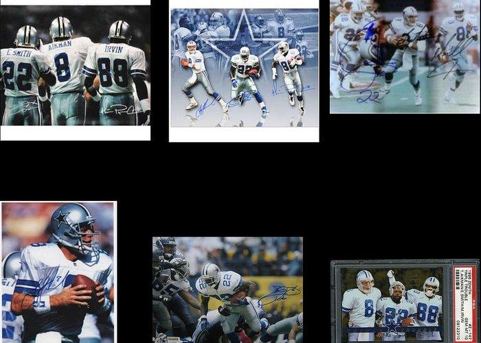 The Three Players That Made The Cowboys A Dynasty In 1990s Era Football Greeting Cards