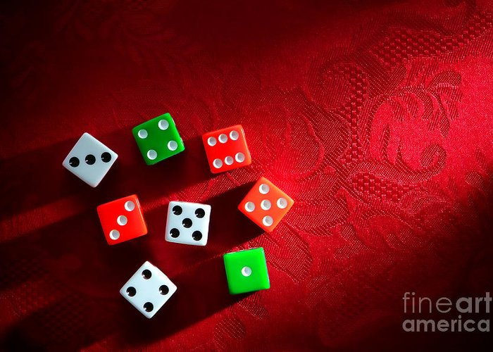 Craps Greeting Card featuring the photograph Craps by Olivier Le Queinec