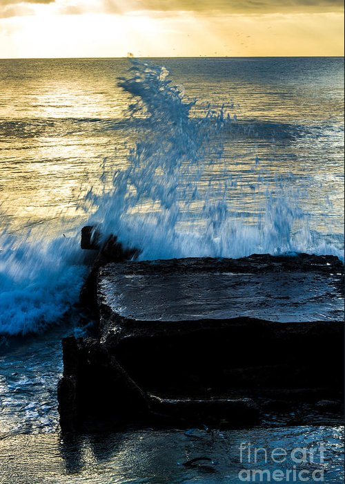 Bvi Greeting Card featuring the photograph Crashing Rays And Waves by Rene Triay Photography