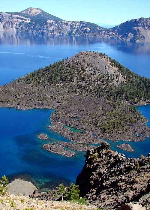 Nature Greeting Card featuring the photograph Crater Lake National Park by Qing Yang