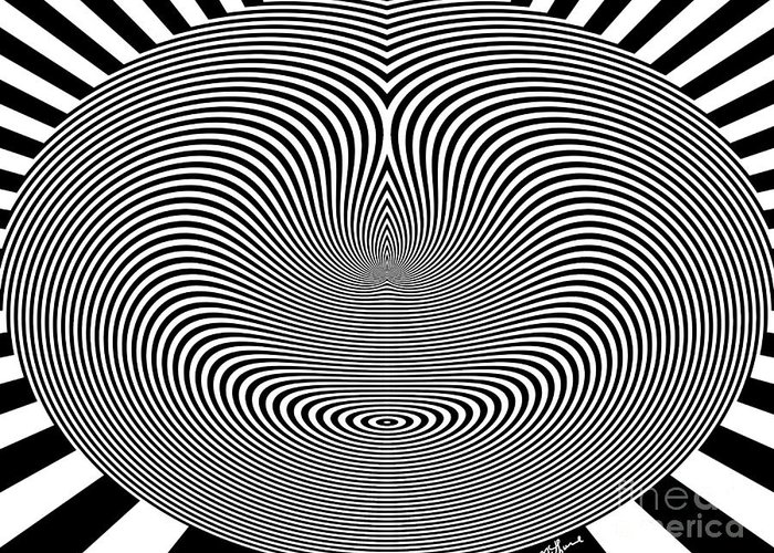 Crazy Circles Greeting Card featuring the digital art Crazy Circles by Methune Hively