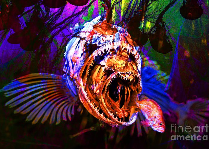 Jelly Greeting Card featuring the photograph Creatures Of The Deep - Fear No Fish 5d24799 by Wingsdomain Art and Photography