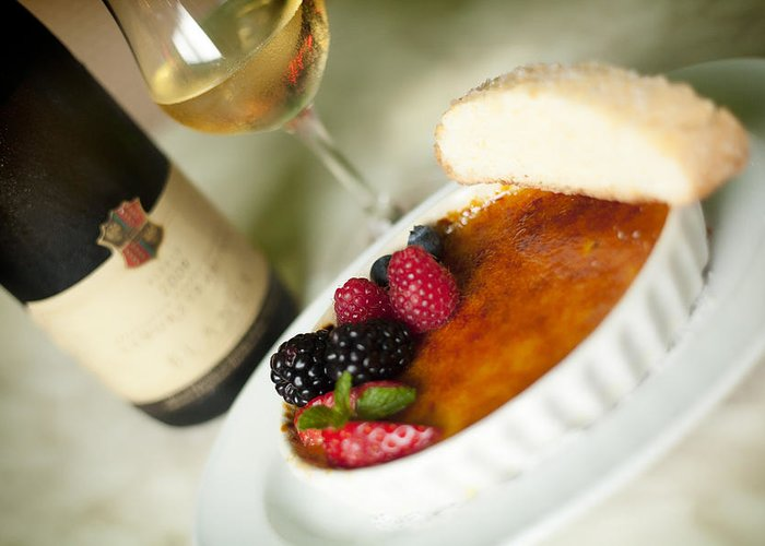 Food Greeting Card featuring the photograph Creme Brulee by Shanna Gillette