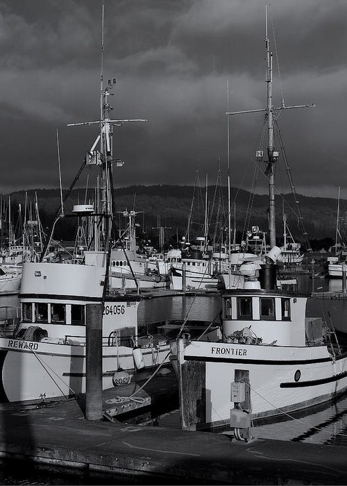 Fishing Boats Greeting Card featuring the photograph Crescent City by Mirek Towski