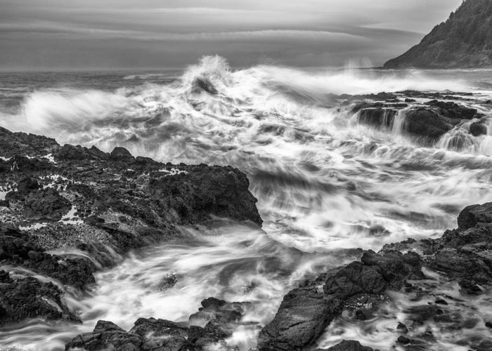 Wave Greeting Card featuring the photograph Cresting Wave by Jon Glaser