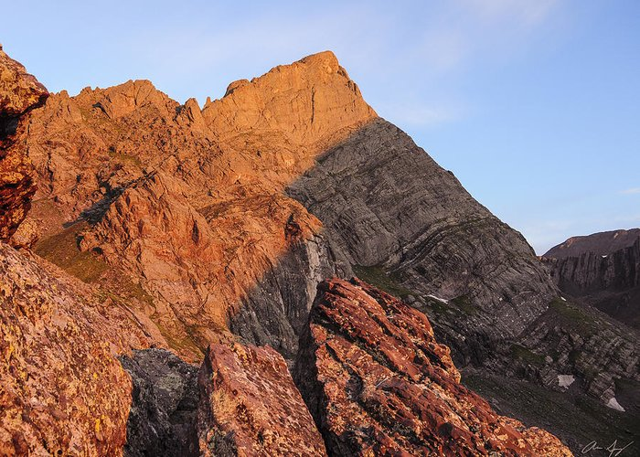 Crestone Greeting Card featuring the photograph Crestone Needle Sunrise by Aaron Spong