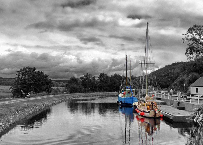 Yachts Greeting Card featuring the photograph Crinan Canal Scotland by Lynn Bolt