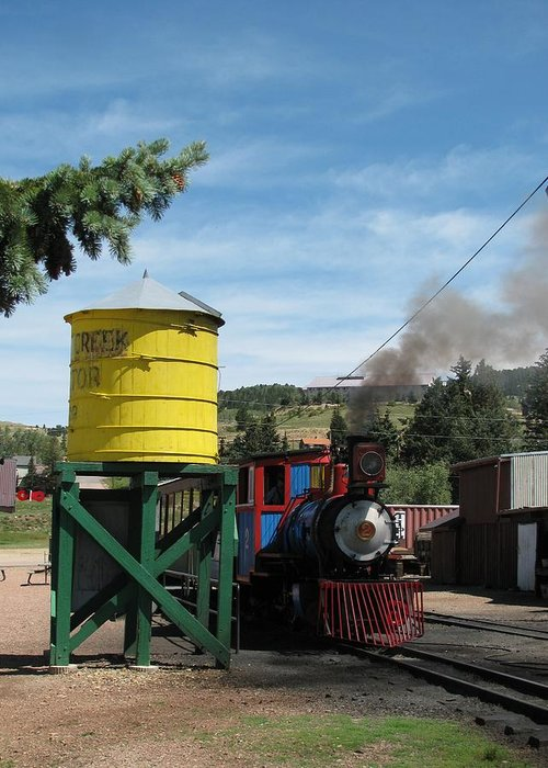 Transportation Greeting Card featuring the photograph Cripple Creek Train by Steven Parker