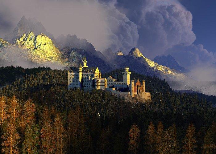 German Castles Greeting Cards