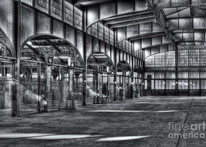 Clarence Holmes Greeting Card featuring the photograph Crrnj Terminal Vi by Clarence Holmes