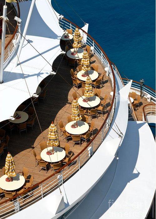 Aft Greeting Card featuring the photograph Cruise Ship Symmetry by Amy Cicconi