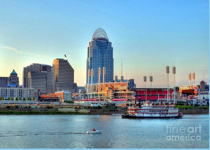 Cincinnati Greeting Card featuring the photograph Cruising By Cincinnati by Mel Steinhauer