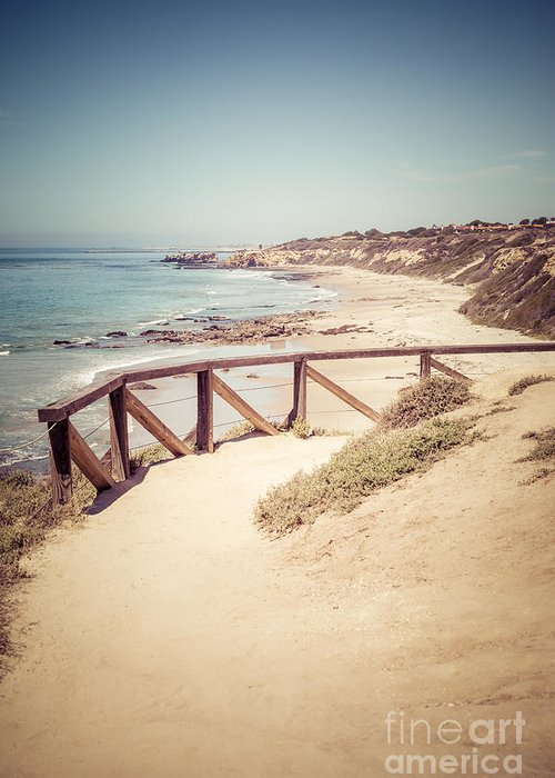 America Greeting Card featuring the photograph Crystal Cove Overlook Picture by Paul Velgos