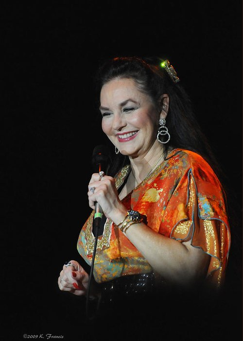 Kenny Francis Greeting Card featuring the photograph Crystal Gayle by Kenny Francis