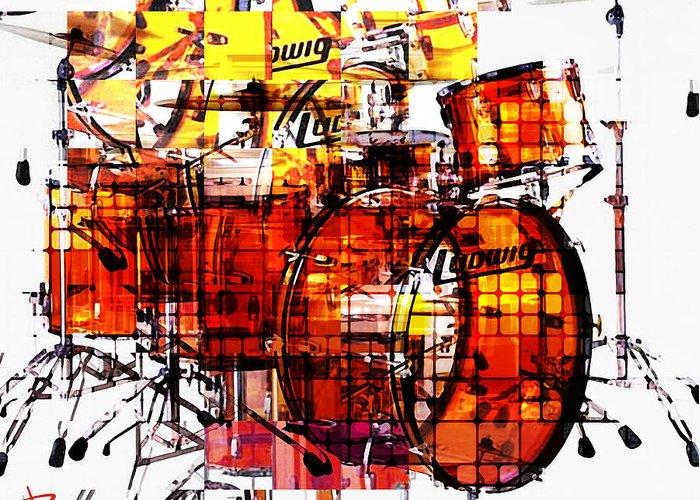 Ludwig Drum Sets Greeting Cards