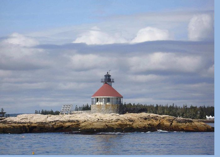 Lighthouse Greeting Card featuring the photograph Cuckolds Lighthouse by Monnie Ryan