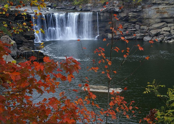 Cumberland Falls Greeting Card featuring the photograph Cumberland Falls by Bj Hodges