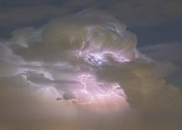 Lightning Greeting Card featuring the photograph Cumulonimbus Cloud Explosion Portrait by James BO Insogna