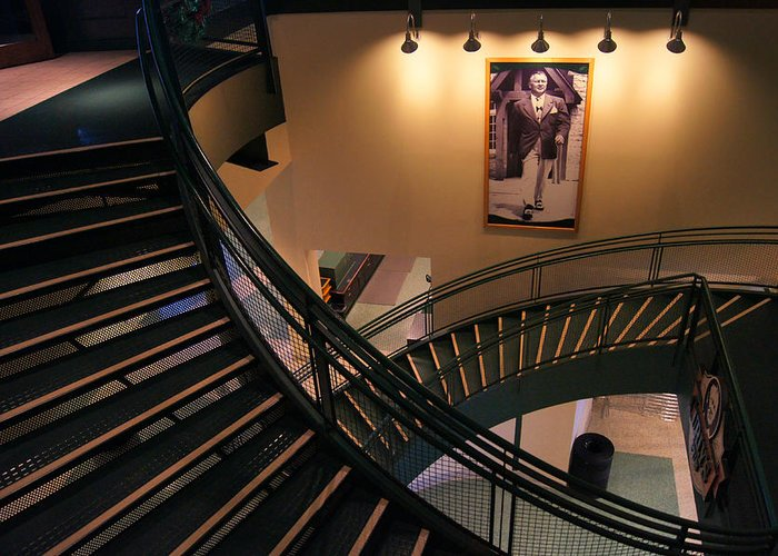 Green Bay Packers Greeting Card featuring the photograph Curly's Stairway by Bill Pevlor