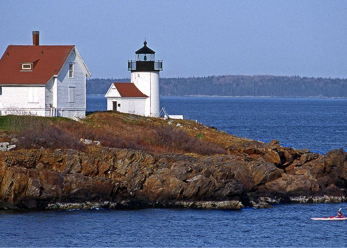 Me Greeting Card featuring the photograph Curtis Island Lighthouse by Skip Willits