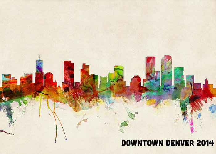 Denver Skyline Greeting Cards