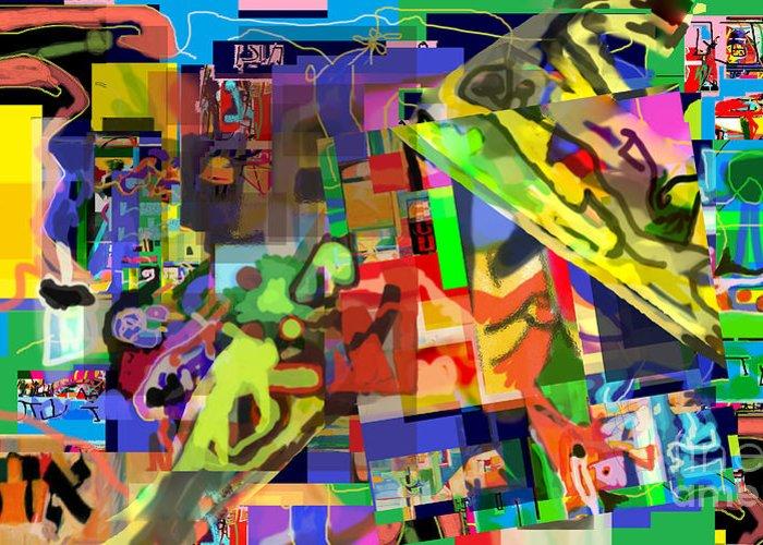 Daas Greeting Card featuring the digital art Daas 1h by David Baruch Wolk