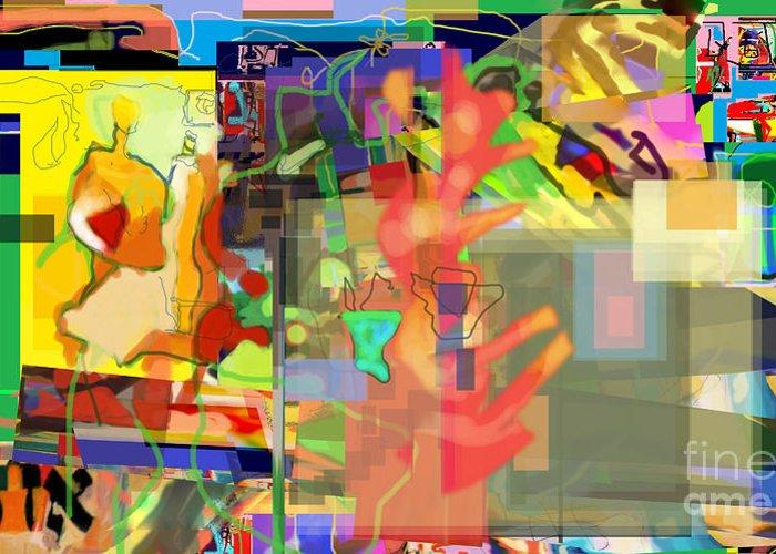 Daas Greeting Card featuring the digital art Daas 1l by David Baruch Wolk
