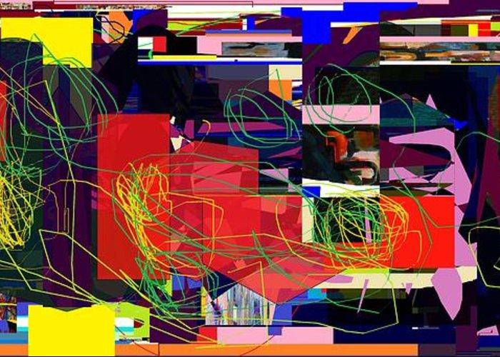 Greeting Card featuring the digital art Daas 2 Daas 6a by David Baruch Wolk