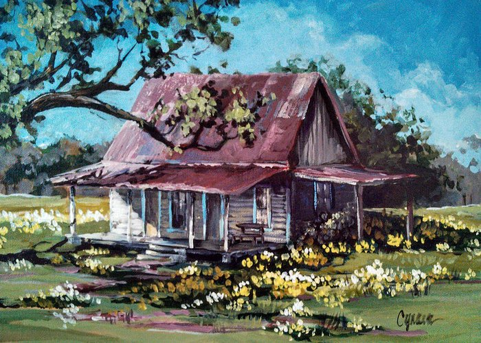 Old Home Place Paintings Greeting Cards