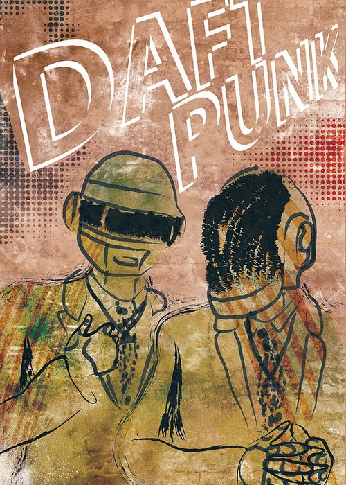 Poster Of Daft Punk. Poster Is Signed And Numbered By Artist Jackson. Limited Edition Of 100. Greeting Card featuring the photograph Daft Punk by Jackson