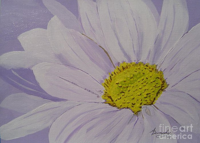Daisy Greeting Card featuring the painting Daisy by Anthony Dunphy