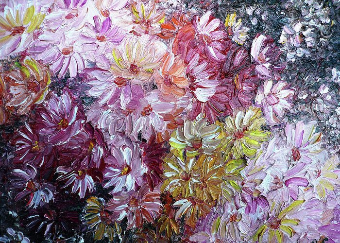 Flowers Greeting Card featuring the painting Daisy Mix  Sold by Karin Dawn Kelshall- Best