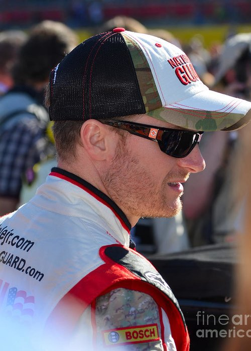 Nascar Driver Greeting Card featuring the photograph Dale Earnhardt Jr. by Mark Spearman