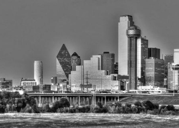 Dallas Greeting Card featuring the photograph Dallas The New Gotham City by Jonathan Davison