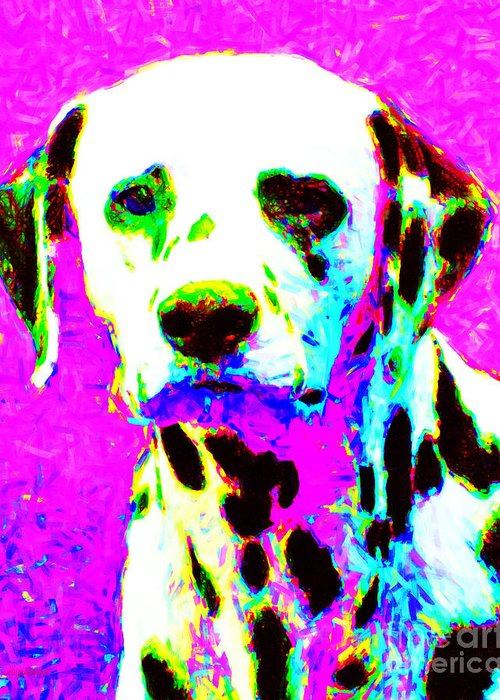 Animal Greeting Card featuring the photograph Dalmation Dog 20130125v1 by Wingsdomain Art and Photography