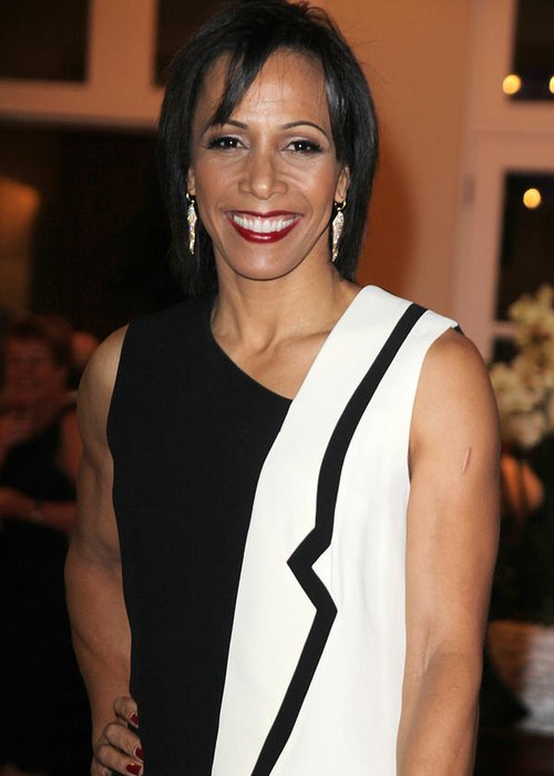Jezcself Greeting Card featuring the photograph Dame Kelly Holmes 2 by Jez C Self