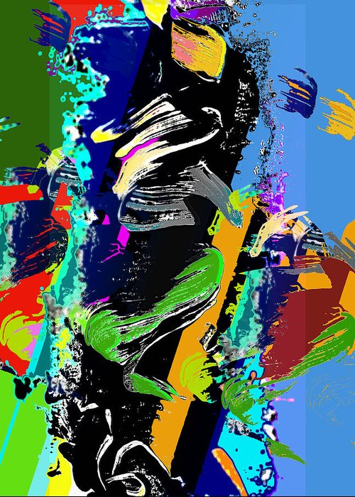Dance Greeting Card featuring the digital art Dance 1 by Jame Hayes