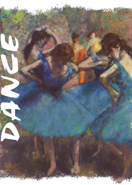 Degas Greeting Card featuring the painting Dance By Degas by Philip Ralley