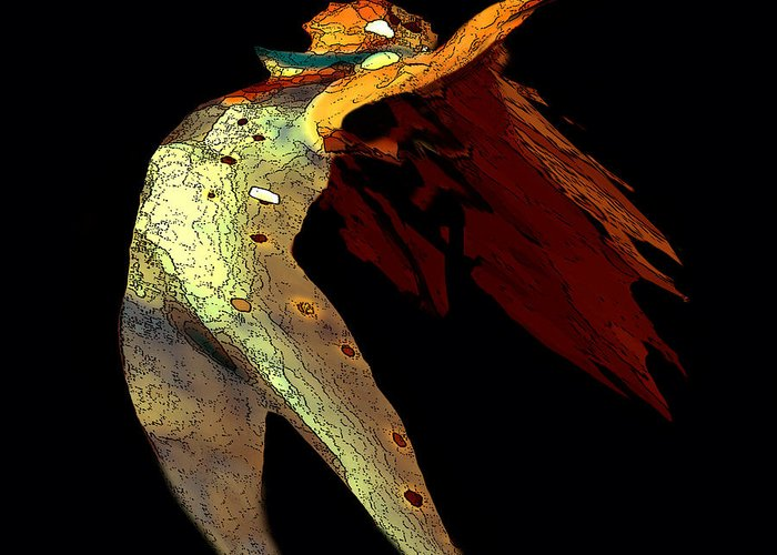 Dance Images Greeting Card featuring the painting Dance Free by Artist and Photographer Laura Wrede