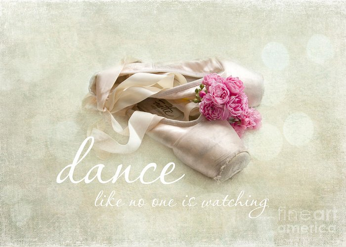 Dance Greeting Card featuring the photograph Dance Like No One Is Watching by Sylvia Cook