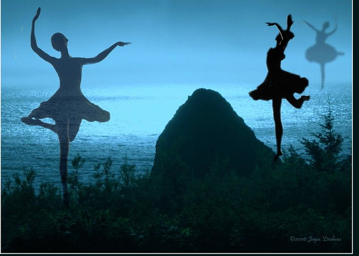 Ballerina Greeting Card featuring the photograph Dance Of The Sea by Joyce Dickens