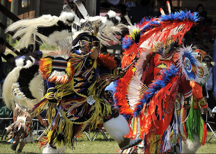 Native American Powwow Greeting Card featuring the photograph Dance To The Beat Of The Drum by Clay and Gill Ross