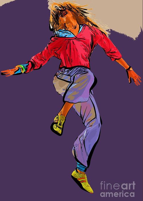 Dance Greeting Card featuring the digital art Dancer 42 by College Town
