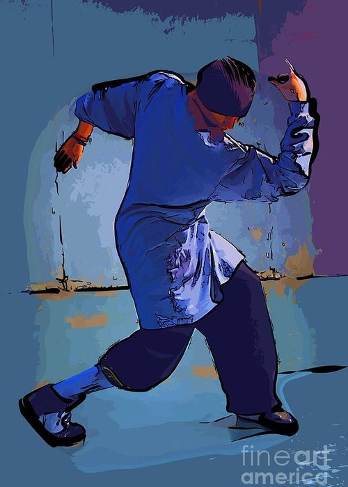 Dance Greeting Card featuring the digital art Dancer 48 by College Town