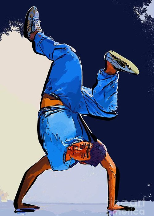 Dance Greeting Card featuring the digital art Dancer 57 by College Town
